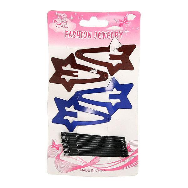 Зажимы для волос 15шт ″Звезды″, цвет микс купить оптом и в розницу