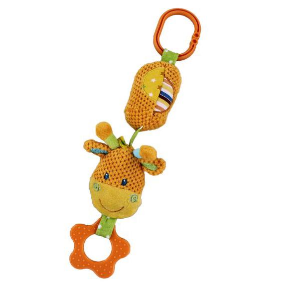 Игрушка разв. 93811 Жирафик подвеска с колокольчиком Жирафики купить оптом и в розницу