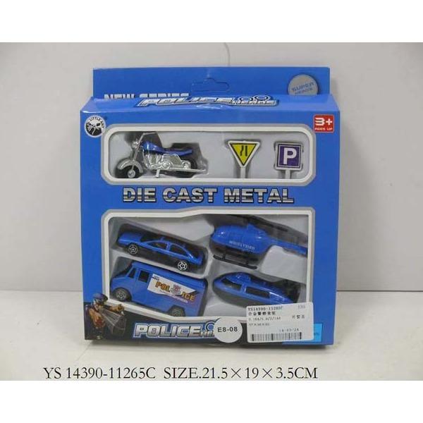 Набор машин металл 11265С-ВА Полиция LITTLE ANT купить оптом и в розницу