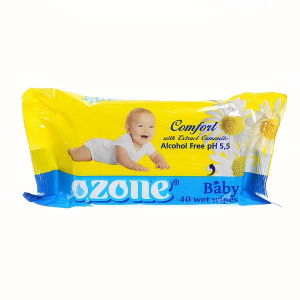 Салфетки влажные детские 40шт OZON с экстр.ромашки (872) купить оптом и в розницу