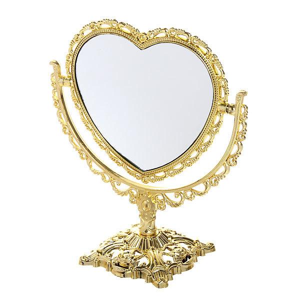 Зеркало настольное ″Версаль″ Сердце 20см 439-5 золото купить оптом и в розницу
