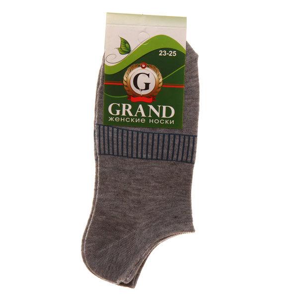 Носки женские GRAND, короткий паголенок, цвет в ассортименте р. 23-25 купить оптом и в розницу
