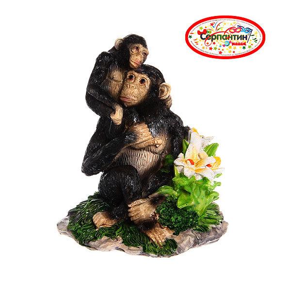 Фигурка ″Обезьянка Шимпанзе с малышом″ 15*15см купить оптом и в розницу