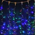Занавес светодиодный ш 2 * в 3м, 432 ламп LED, ″Дождь″, RG/RB (красный, зеленый/красный,синий),8 реж, прозр.пров. купить оптом и в розницу
