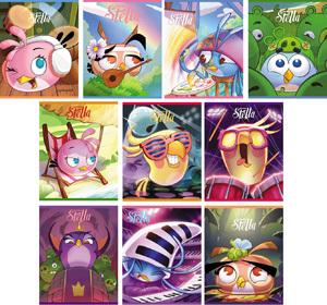"""Тетрадь 48л.кл.скрепка HATBER, """"Angry Birds.Stella Выпуск №4"""" купить оптом и в розницу"""