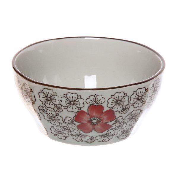 ″Красный цветок″ Салатник керамический 400мл 35430-37 купить оптом и в розницу