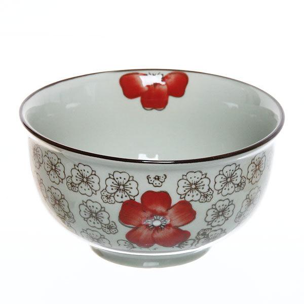 ″Красный цветок″ Салатник керамический 550мл 35430-39 купить оптом и в розницу