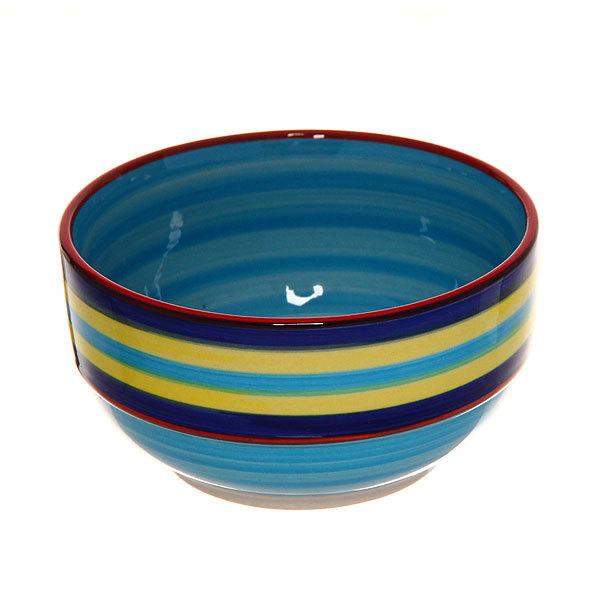 ″Радуга синяя″ Салатник керамический 400мл 35430-48 купить оптом и в розницу