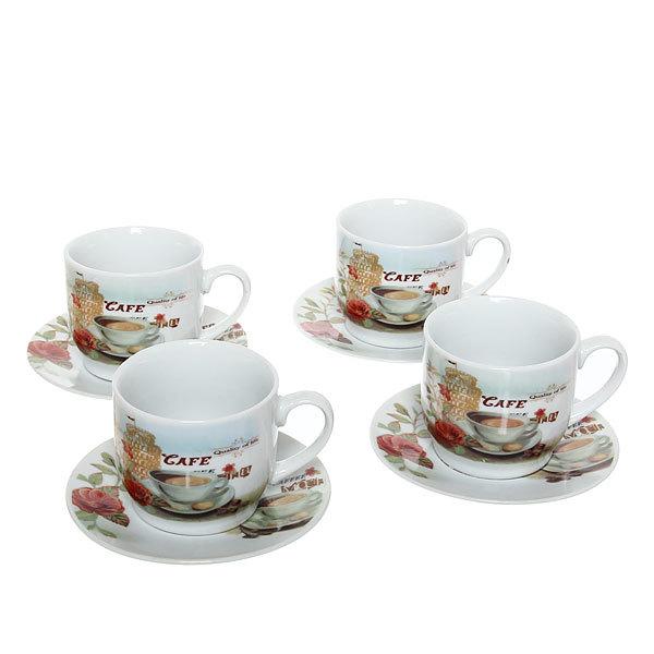 Чайный набор 8 предметов (кружка 200мл +блюдце) 508С-3 купить оптом и в розницу