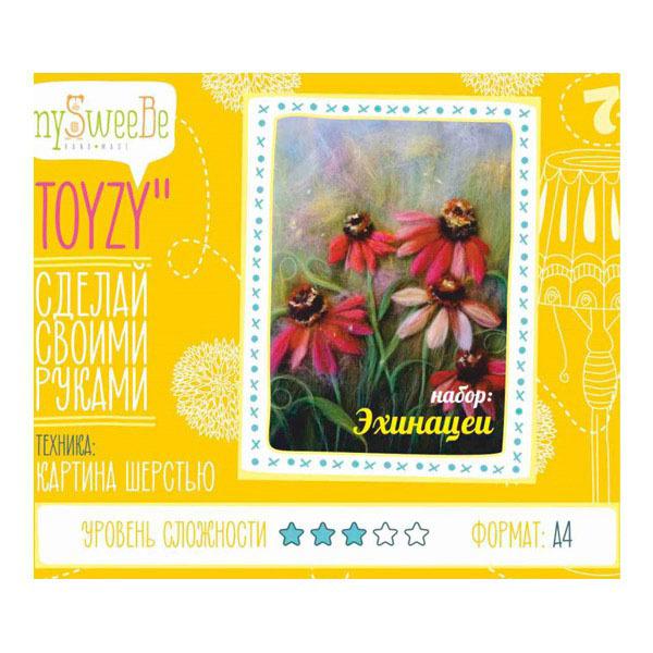 Набор ДТ Картина шерстью Эхинацеи А4 TZ-P023 купить оптом и в розницу