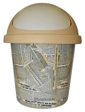 Корзина для мусора 7 л Газета*10 купить оптом и в розницу