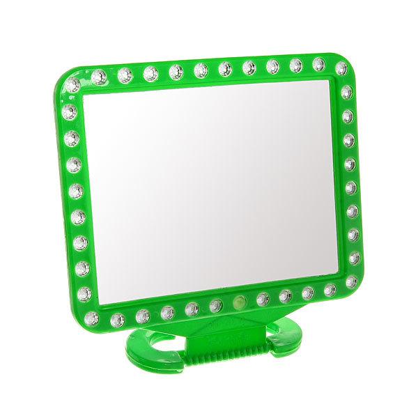 Зеркало настольное в пластиковой оправе ″Белые выемки″ Прямоугольник 20*16,5см 451-18 купить оптом и в розницу