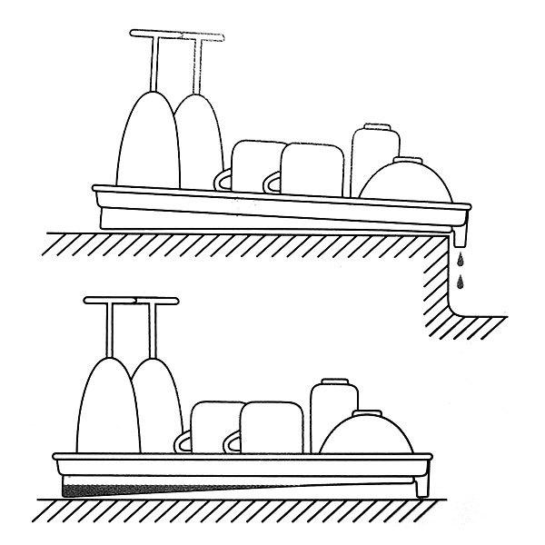 Сушилка для посуды 40*27*3см пластиковая купить оптом и в розницу