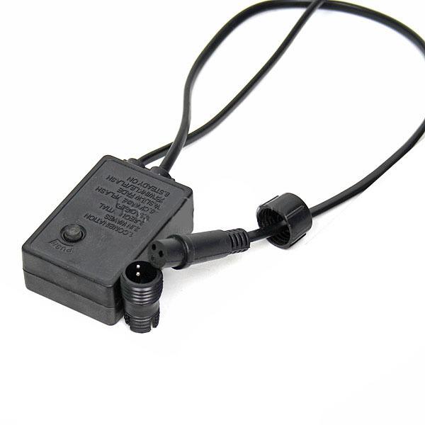 Контроллер для электрогирлянды Шнур (2 контакта) круглый (до 10м) + переходник купить оптом и в розницу