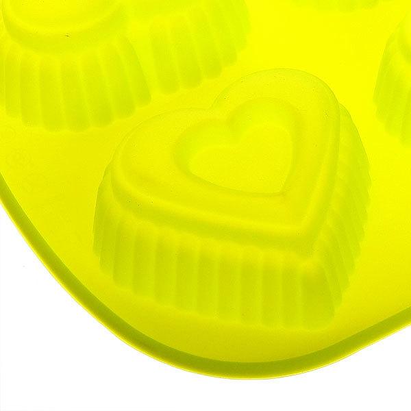 Форма силиконовая ″Сердце″ 6 ячейки 26*17*3 см купить оптом и в розницу