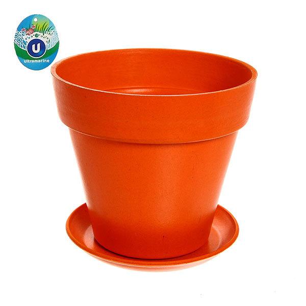 Горшок для цветов ЭКО Полянка″ 16*19см SHY-12В оранжевый 1,7 купить оптом и в розницу