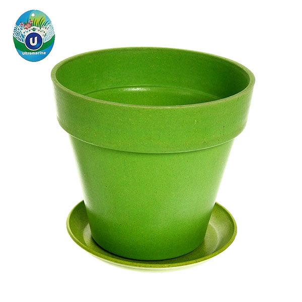 Горшок для цветов ЭКО Полянка″ 16*19см SHY-12В зеленый купить оптом и в розницу