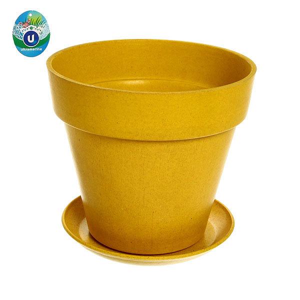 Горшок для цветов ЭКО Полянка″ 16*19см SHY-12В желтый купить оптом и в розницу