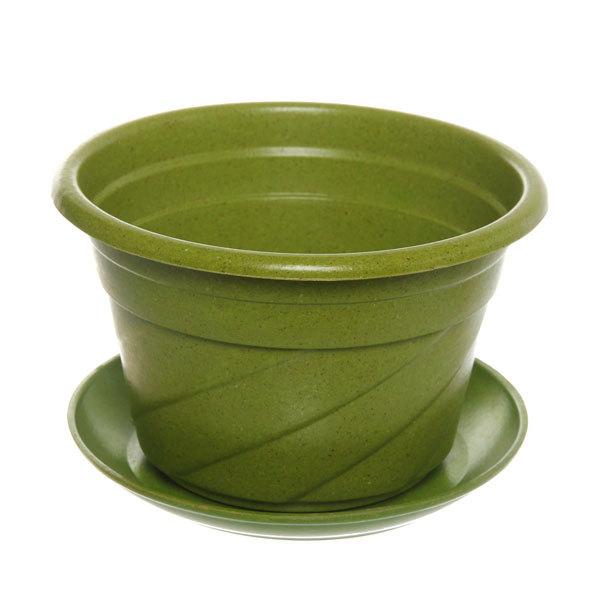 Горшок для цветов ЭКО Волна″ 17*11см PLD-01 зеленый купить оптом и в розницу