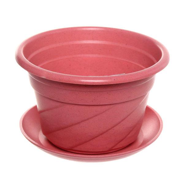 Горшок для цветов ЭКО Волна″ 17*11см PLD-01 розовый купить оптом и в розницу