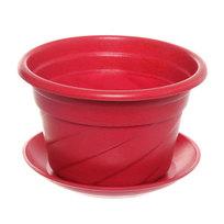 Горшок для цветов ЭКО Волна″ 17*11см PLD-01 красный купить оптом и в розницу