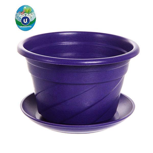 Горшок для цветов ЭКО Волна″ 17*11см PLD-01 фиолетовый купить оптом и в розницу
