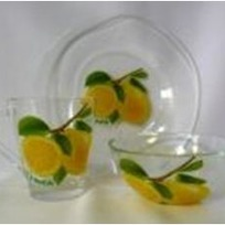 Набор посуды для завтрака ″Лимон″ D10327/1+D10341/1+D1649/1 купить оптом и в розницу
