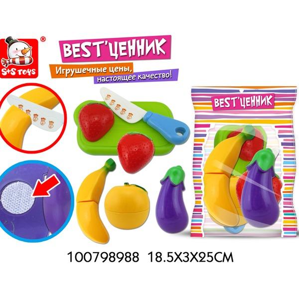 """Набор фруктов для резки 100798988 BEST""""ценник в пак. купить оптом и в розницу"""