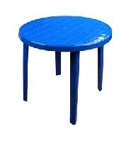 Стол круглый (900х900х750)(синий)(уп.1)(Октябрьский) купить оптом и в розницу