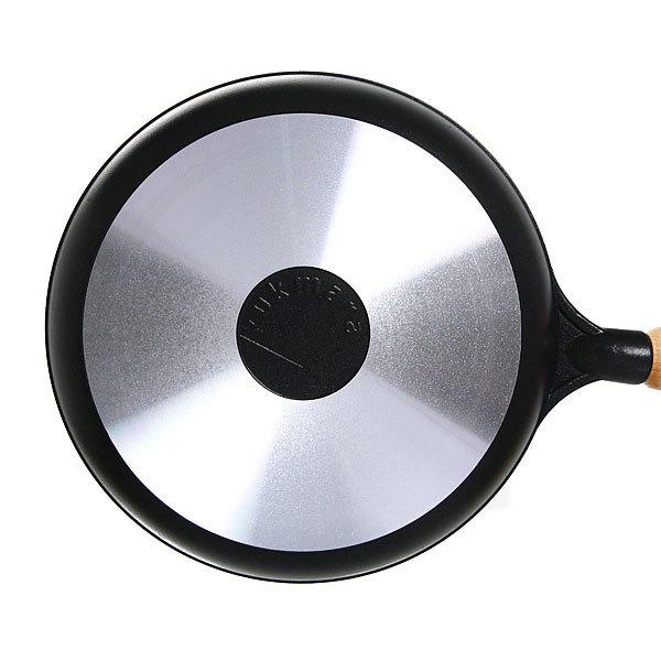 Сковорода 22 см литой алюминий с деревянной ручкой КМ-с229а купить оптом и в розницу