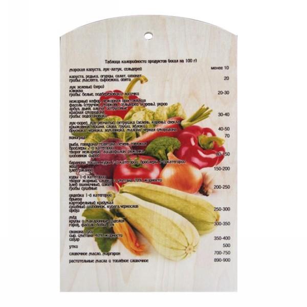 Доска разделочная сувенирная 25*40*0,8см ″Овощной микс″ купить оптом и в розницу