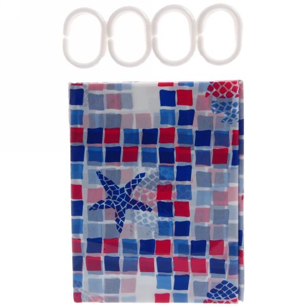 Штора для ванной 180х180 ″Селфи″ PVC 120 купить оптом и в розницу