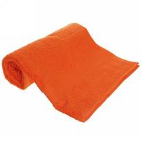 Махровое полотенце 70*140см оранжевое ЭК140 Д01 купить оптом и в розницу
