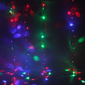 Занавес светодиодный ш 2,5 * в 3м, 240 ламп LED, RG/RB (красный, зеленый/красный,синий), 8 реж, прозр.пров.,12 нитей купить оптом и в розницу