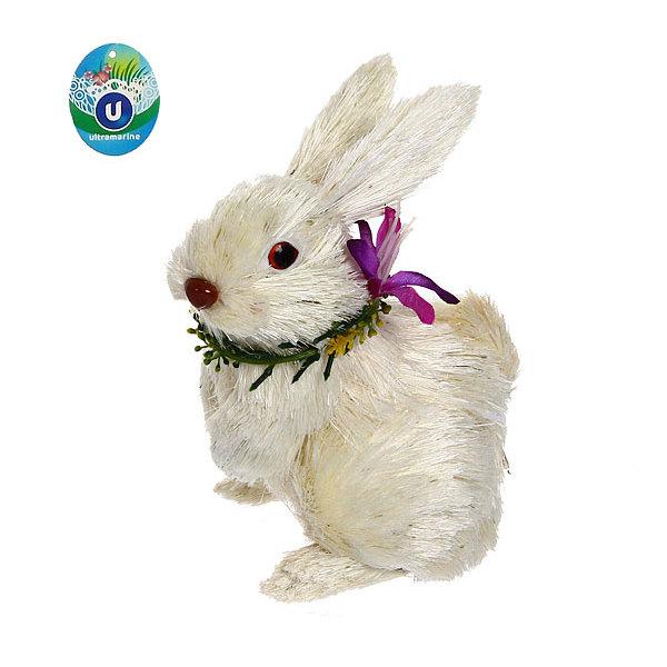 Садовая фигура ″Зайчик русак″, солома, 16 см купить оптом и в розницу