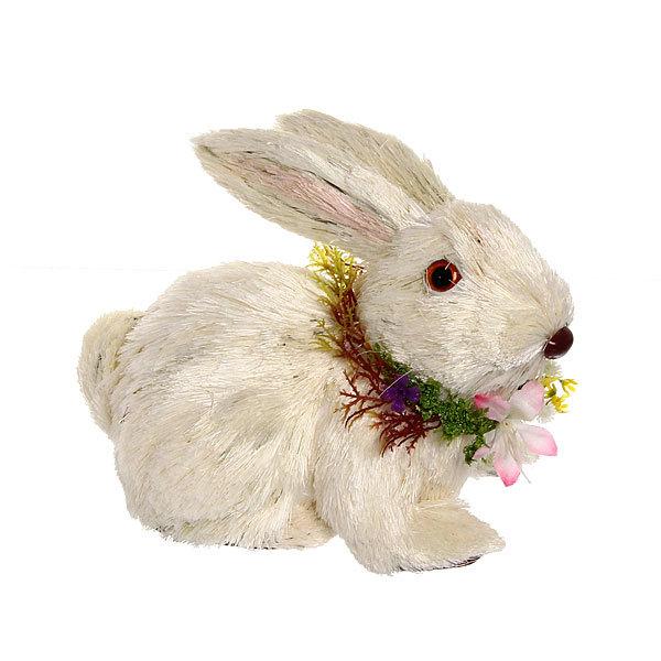 Садовая фигура ″Заяц русак″, солома, 20*14 см купить оптом и в розницу