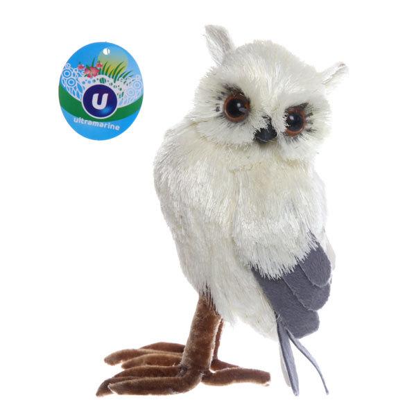 Садовая фигура ″Полярная сова″, солома, 17 см купить оптом и в розницу