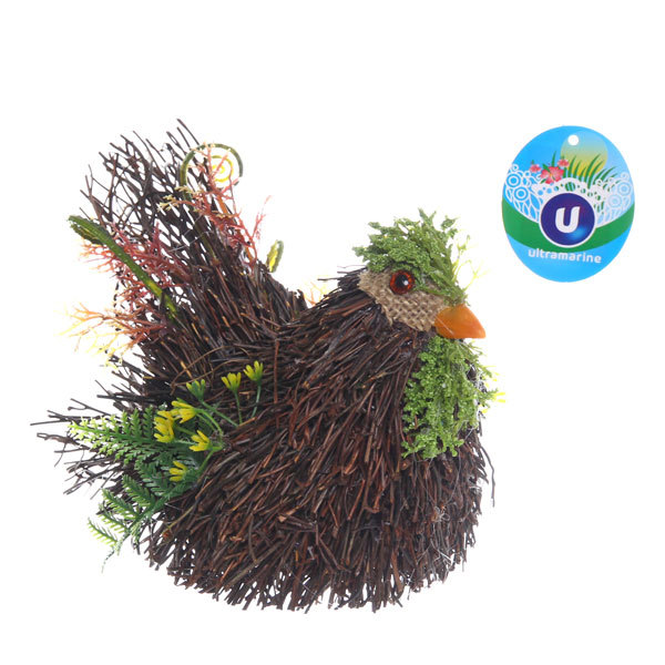 Садовая фигура ″Курица″, солома, 16*11 см купить оптом и в розницу