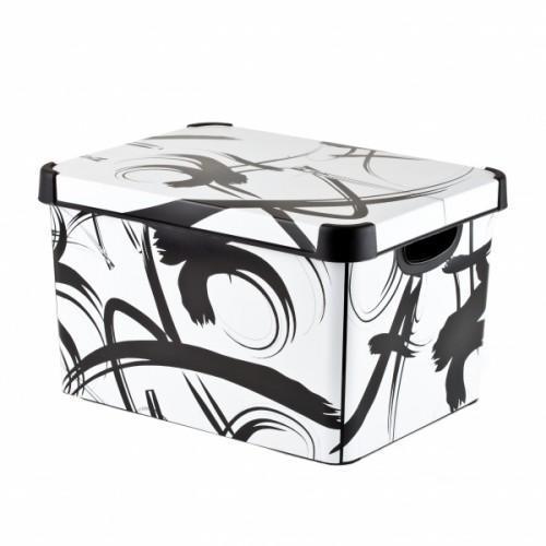 Коробка декоративная STOCKHOLM M Japanese brush /10 шт Curver 295*195*135 купить оптом и в розницу