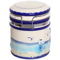 Банка для сыпучих продуктов с зажимом ″ Морской прибой″ 1000мл, керамика купить оптом и в розницу