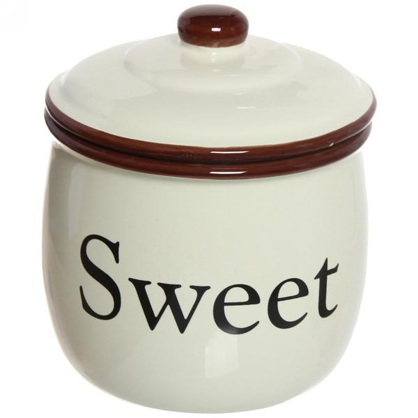 Банка для сыпучих продуктов ″ Sweet Home″ 700мл, керамика купить оптом и в розницу
