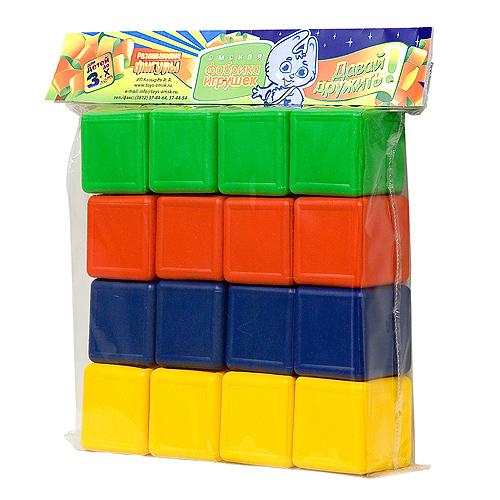 Кубики цветные 16шт /Козырев/ купить оптом и в розницу