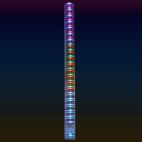 Трубка светодиодная 1м, 90 ламп LED, разноцветный, купить оптом и в розницу