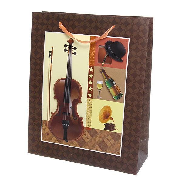 Пакет подарочный ″Скрипка″ 32*26*10см 1373 купить оптом и в розницу