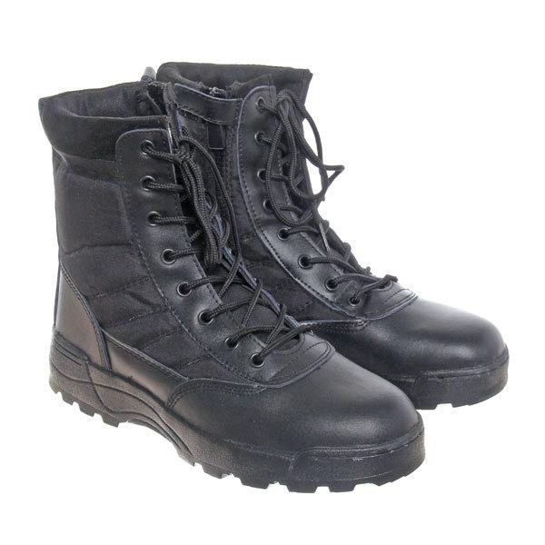 Ботинки тактические с высоким берцем S.W.A.T. QYS-21 black (р-р 42) купить оптом и в розницу