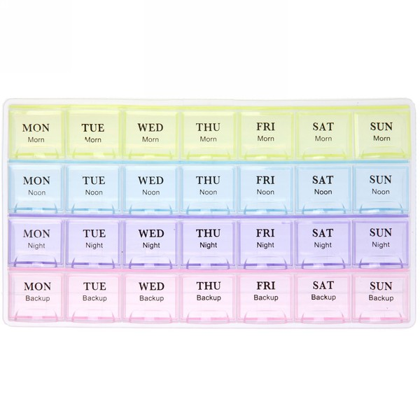 Контейнер для таблеток 28 ячеек 21,5х12х2,3 900-5048 купить оптом и в розницу