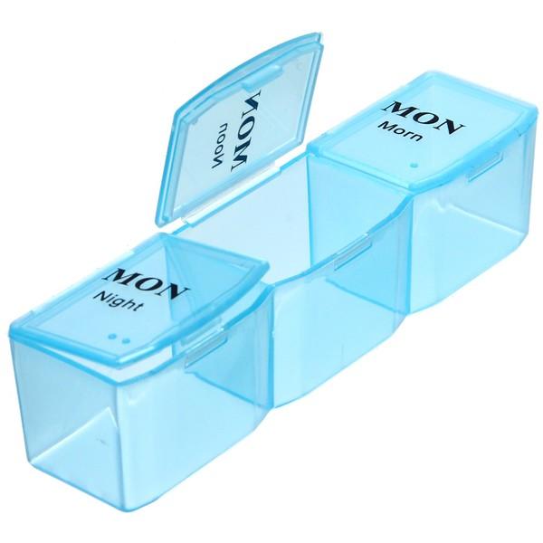 Контейнер для таблеток 21 ячейка 21х12х3 900-6018 купить оптом и в розницу