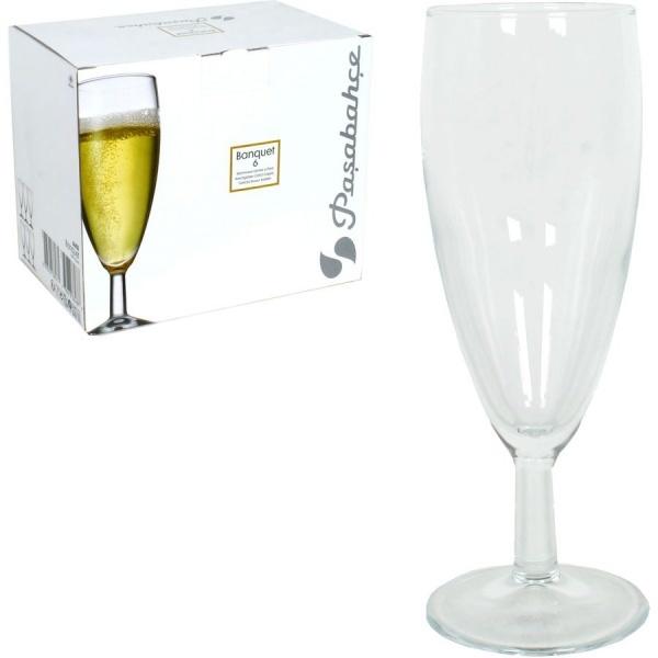 Набор фужеров д/шампанского БАНКЕТ 6 шт. 155 мл. (1/4) купить оптом и в розницу
