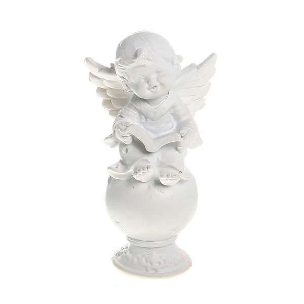 Фигурка из полистоуна ″Белый Ангел″ на шаре 9,5*5 см купить оптом и в розницу