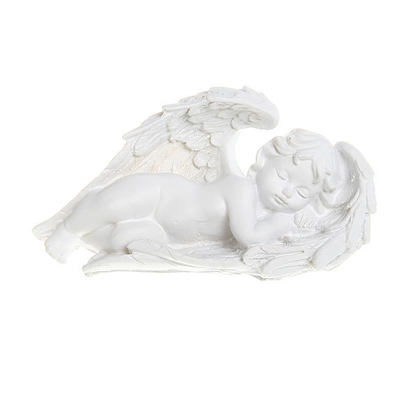 Фигурка из полистоуна ″Белый Ангел″ спящий 9,5*16см (цена за 1шт) L119 купить оптом и в розницу